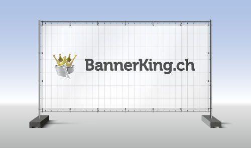 Bauzaunbanner oder Contecta Gitter Banner bedruckt