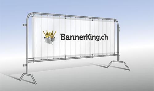 Absperrgitter Banner bedruckt